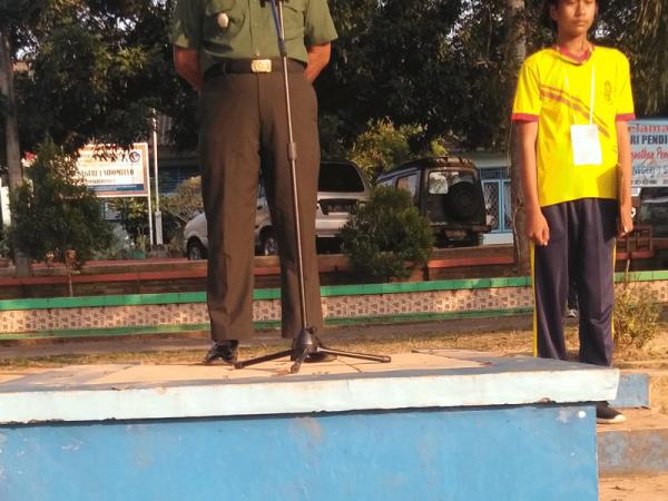Apel Pagi PLS Hari Kedua Di Pimpin Oleh Bapak Danramil Sidomulyo